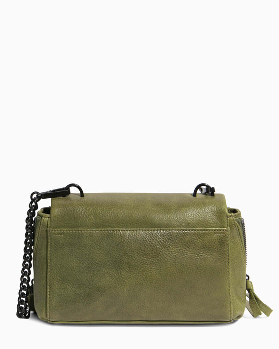 No B.S. Mini Crossbody - olive back