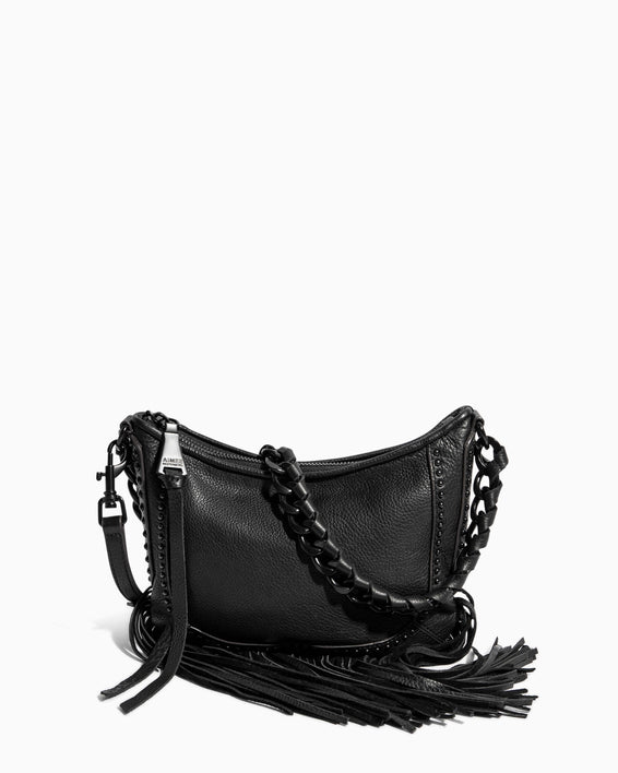 Take Me Out Fringe Crossbody Black - front