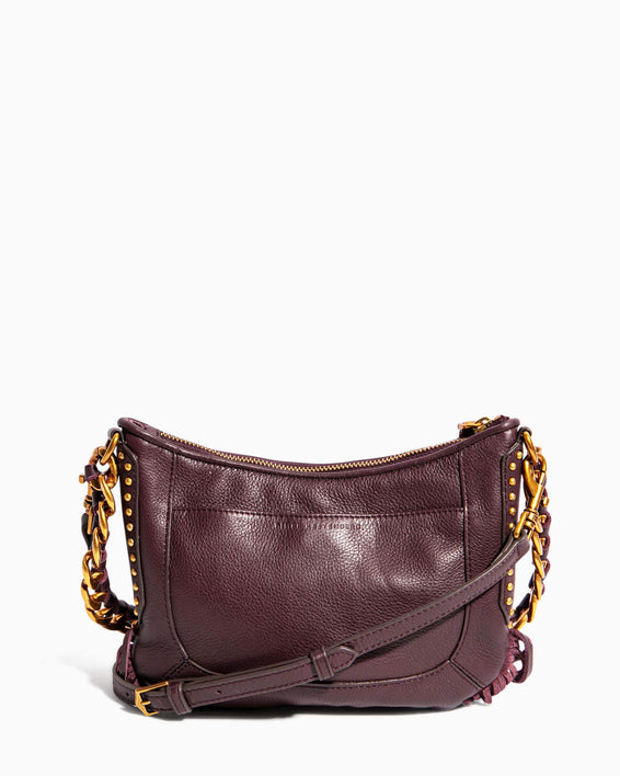 Take Me Out Fringe Crossbody Merlot Zebra - back