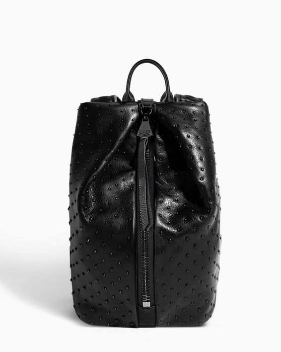 Tamitha Backpack Black/Black Studded - front