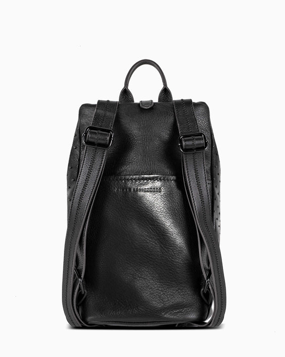 Tamitha Backpack Black/Black Studded - back
