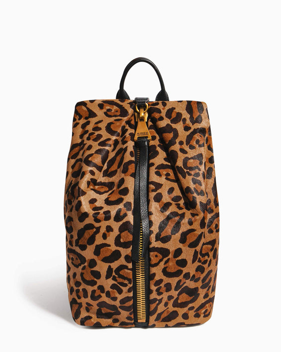 Tamitha Backpack Large Leopard Haircalf - front