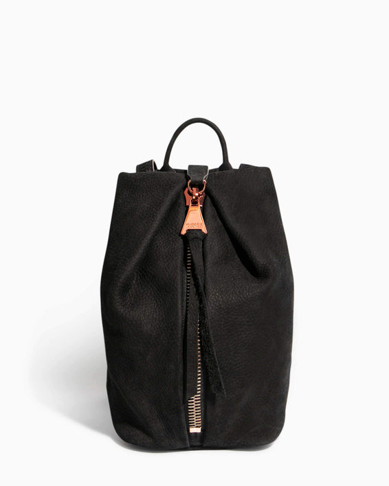 Tamitha Mini Backpack Black Nubuck - front