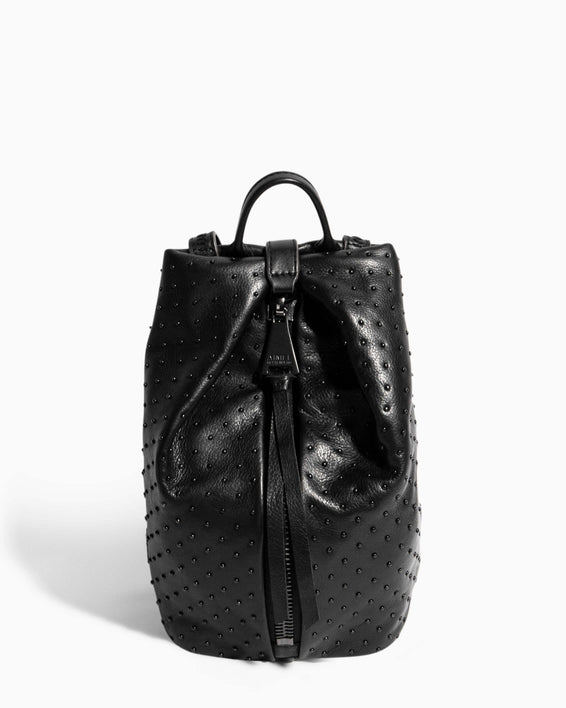 Tamitha Mini Backpack Black Black Studded - front