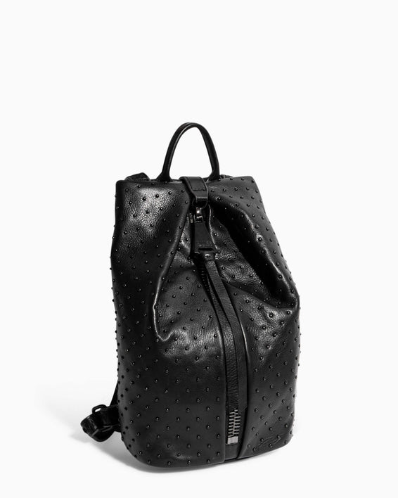 Tamitha Mini Backpack Black Black Studded - side angle