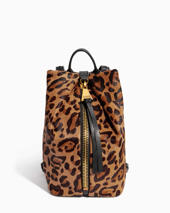 Tamitha Mini Backpack Large Leopard Haircalf - front