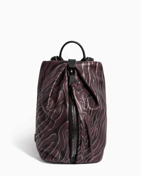 Tamitha Mini Backpack Merlot Zebra - front