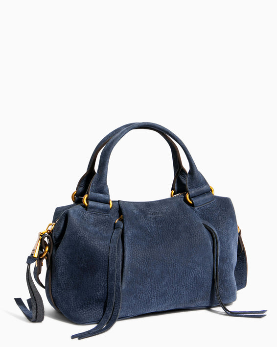 Tamitha Mini Satchel - deep indigo side angle