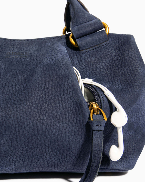 Tamitha Mini Satchel - deep indigo detail