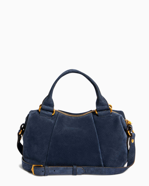 Tamitha Mini Satchel - deep indigo back