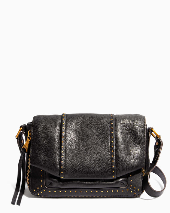 When In Milan Large Crossbody Black - front
