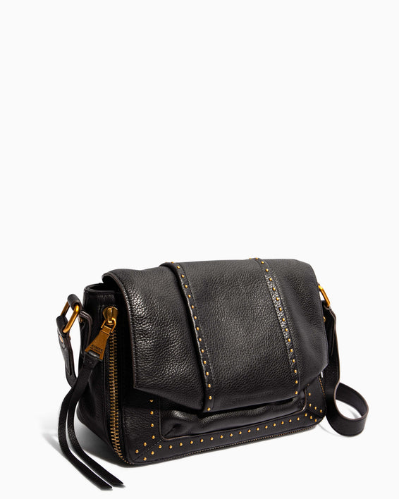 When In Milan Large Crossbody Black - side angle