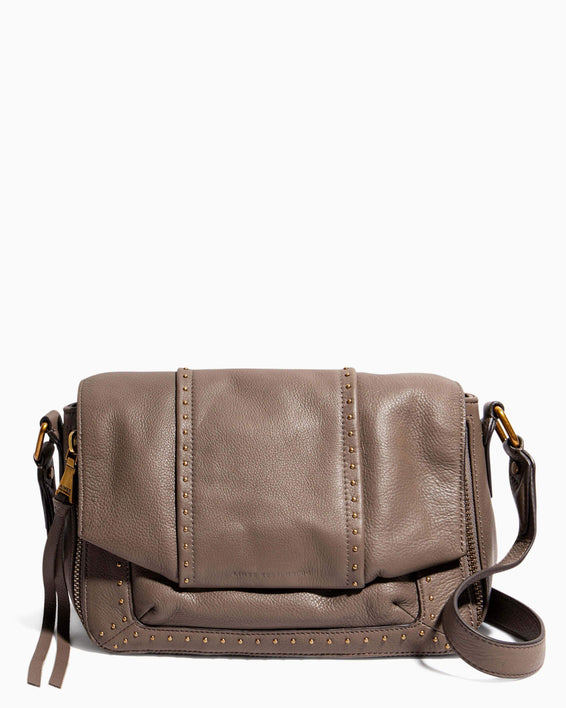 When In Milan Large Crossbody Charcoal - front