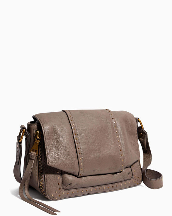 When In Milan Large Crossbody Charcoal - side angle