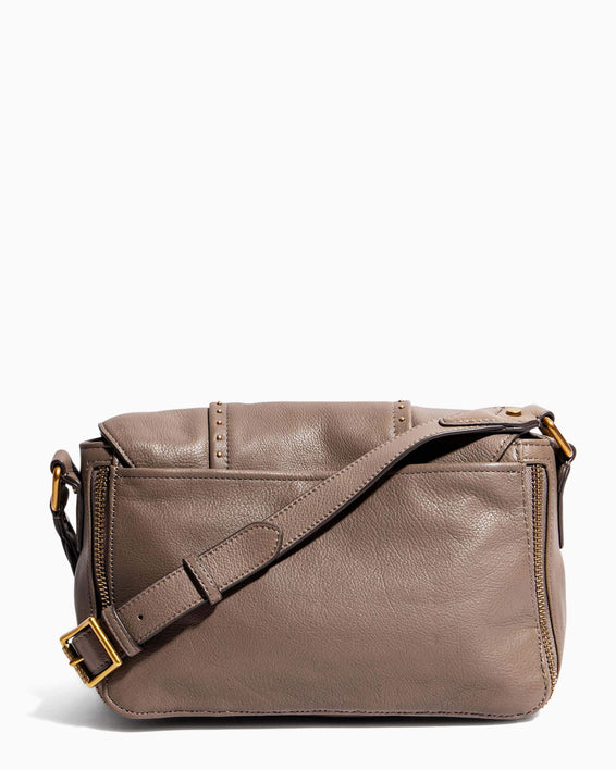 When In Milan Large Crossbody Charcoal - back