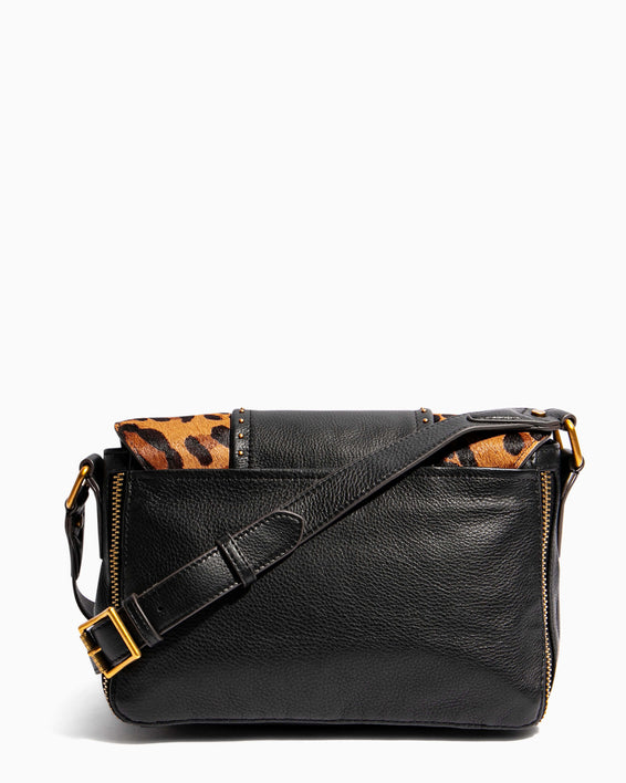 When In Milan Large Crossbody Large Leopard Haircalf - back