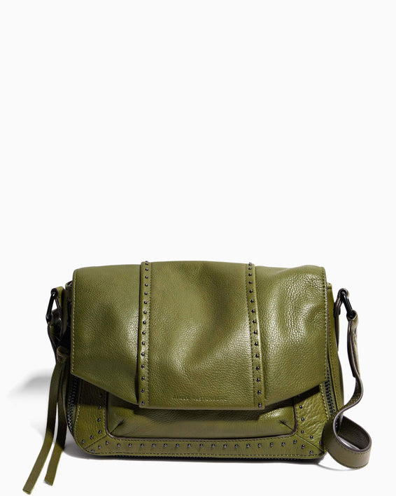 When In Milan Large Crossbody Olive - front