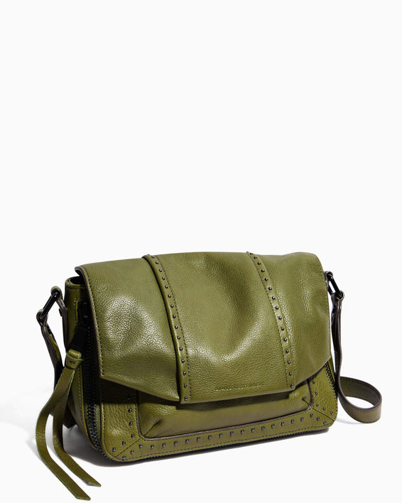 When In Milan Large Crossbody Olive - side angle