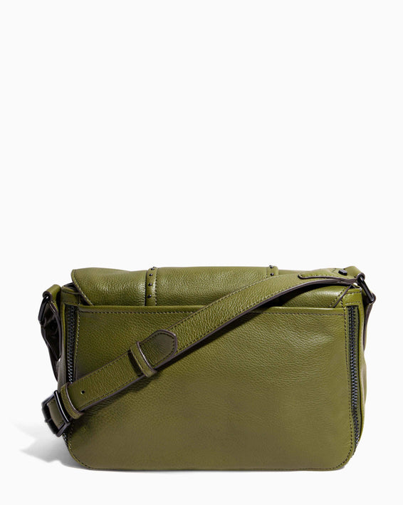 When In Milan Large Crossbody Olive - back