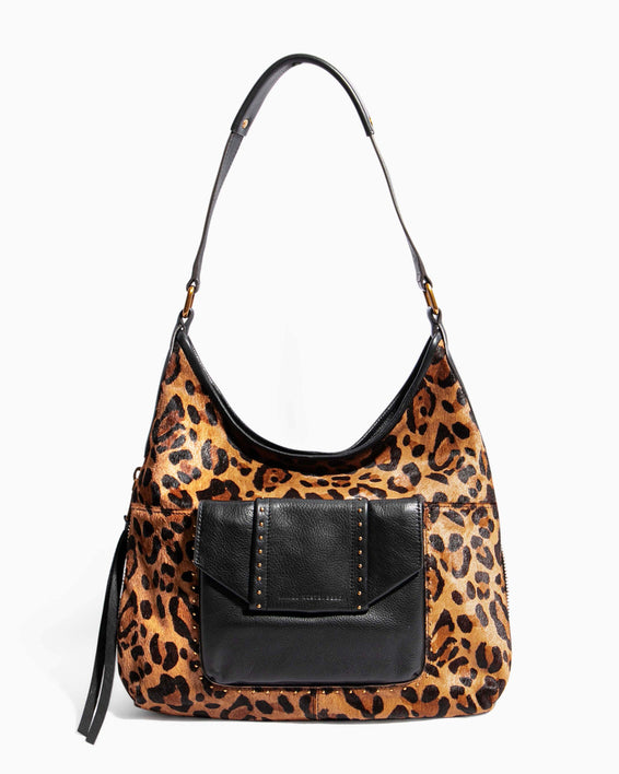 When In Milan Hobo Large Leopard Haircalf - front