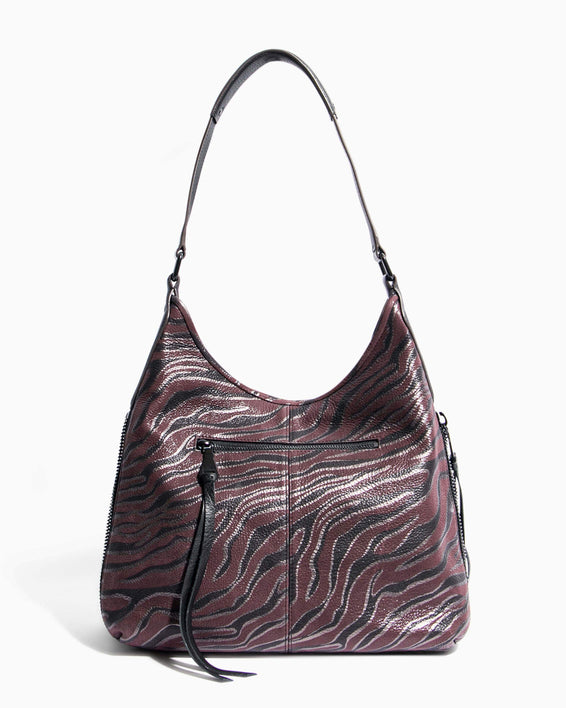 When In Milan Hobo Merlot Zebra - back