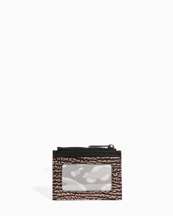 Zip It Up Card Case Rose Gold Bubble Lamb - back
