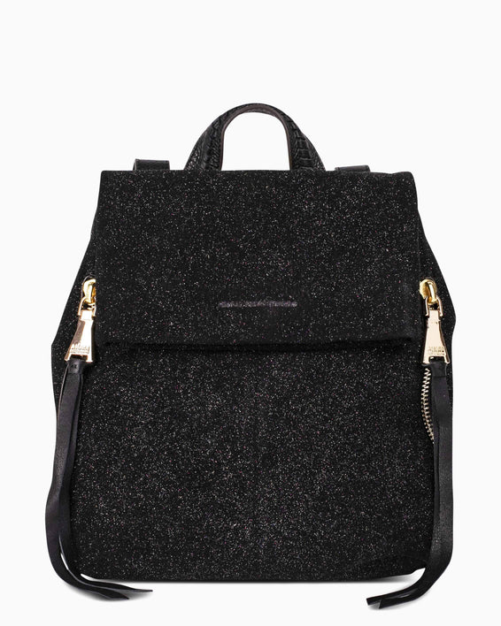 Bali Backpack - Glitter Suede Front