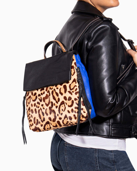 Bali Backpack - Jungle Leopard Haircalf On model