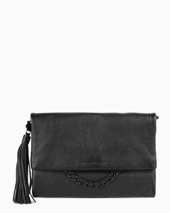Bali Convertible Clutch - Black Front