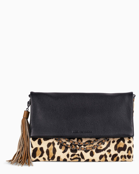 Bali Convertible Clutch - Jungle Leopard Haircalf Front