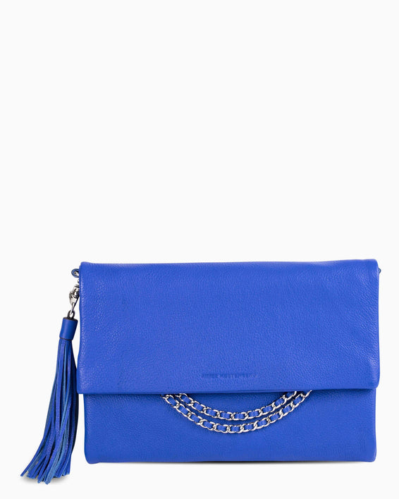 Bali Convertible Clutch - Lapis Blue Front