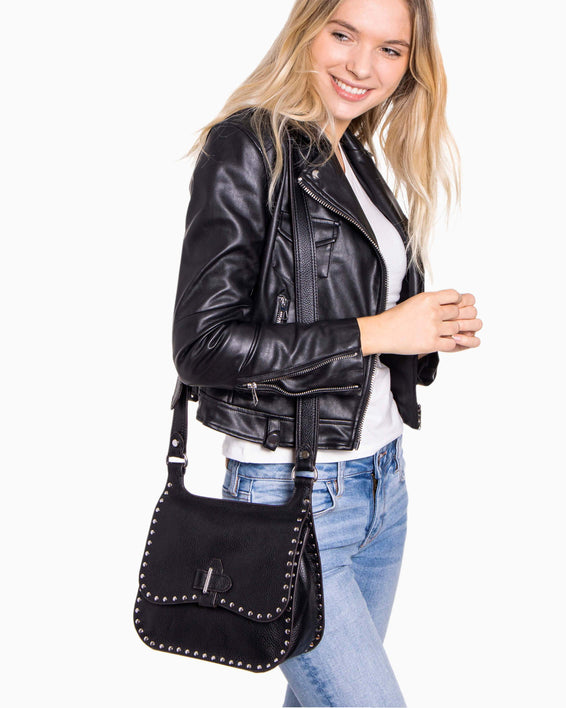 Happy Hour Convertible Shoulder Bag - Black On Model