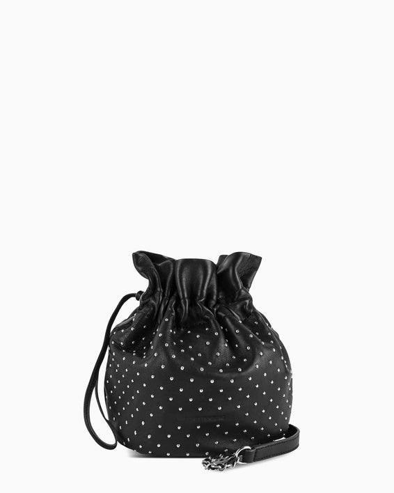 I'm A Queen Crossbody Pouch - black studded front
