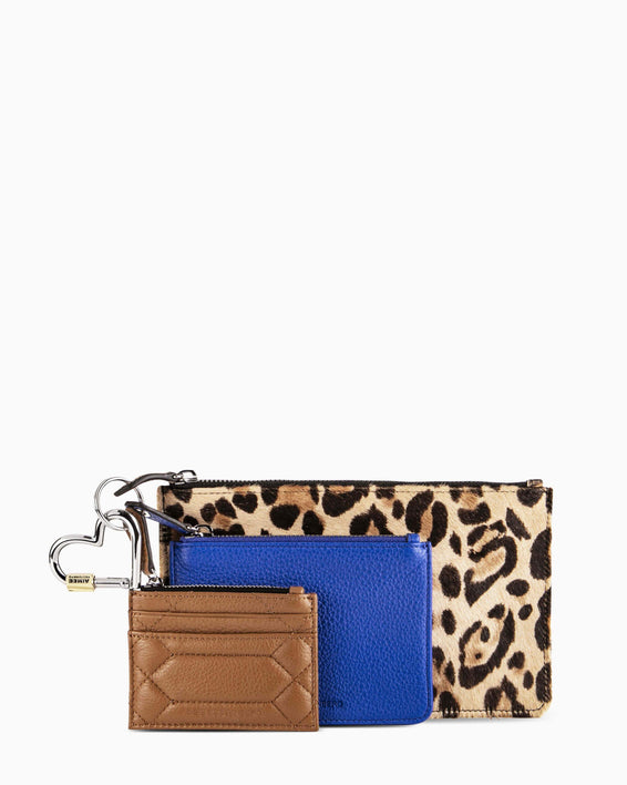 It's A Love Thing 3-Piece Pouch Set - leopard front