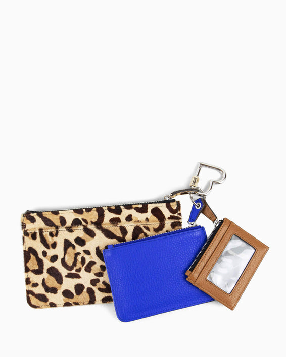 It's A Love Thing 3-Piece Pouch Set - leopard detail