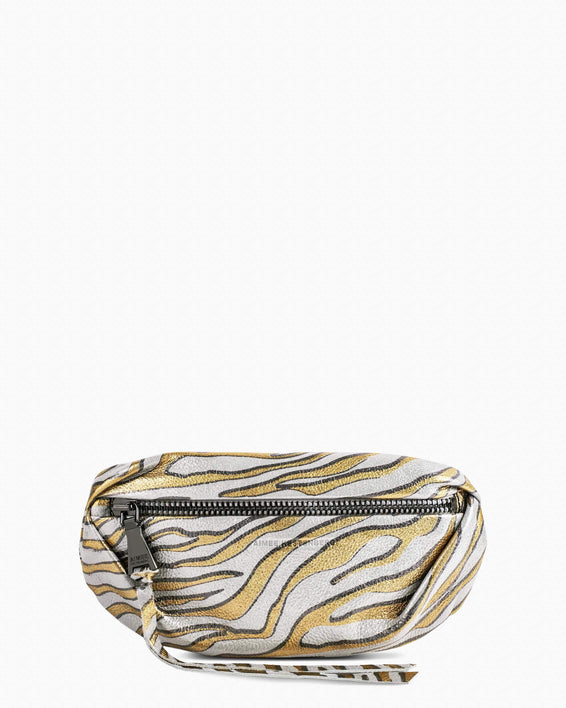 Milan Bum Bag - Metallic Zebra front