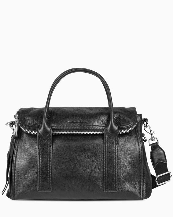 On my way satchel - Black front
