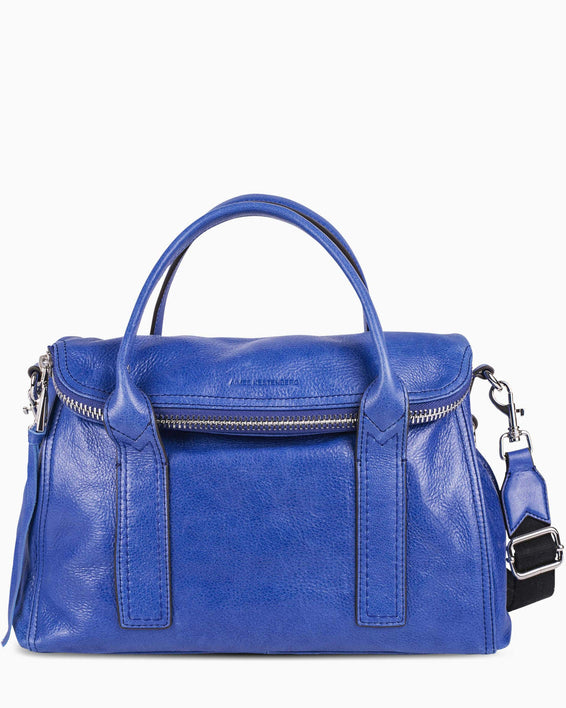 On my way satchel - Lapis Blue front