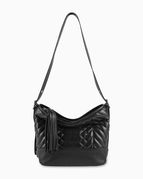 Scene Stealer bucket bag - Black detail strap up