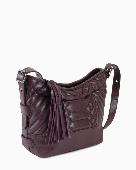 Scene Stealer bucket bag - Vino side angle