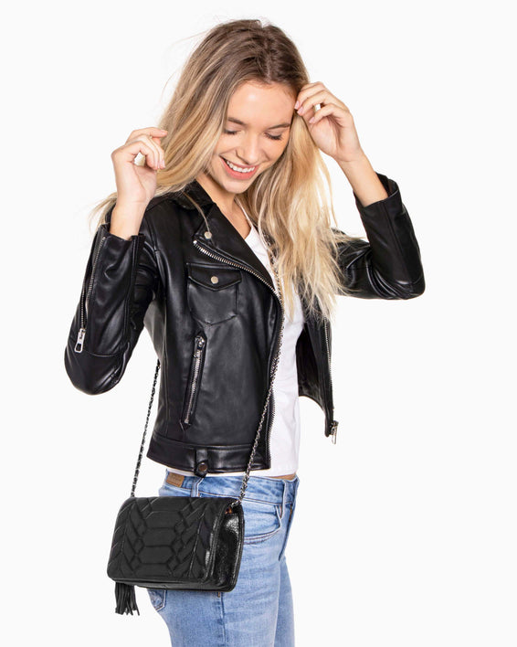 Scene Stealer Crossbody - Black On model