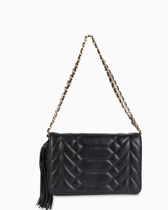 Scene Stealer Crossbody - Black detail chain