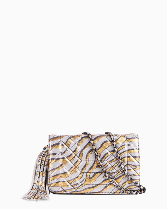 Scene Stealer Crossbody - Metallic Zebra front