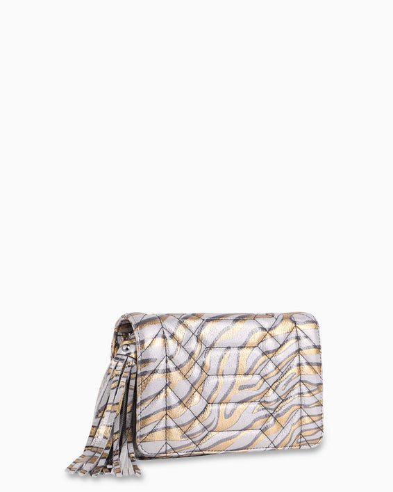 Scene Stealer Crossbody - Metallic Zebra Side angle