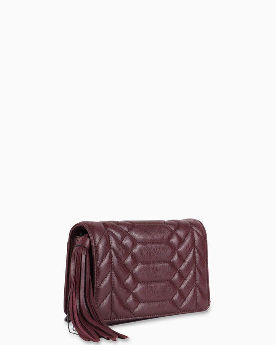 Scene Stealer Crossbody - Vino Side angle