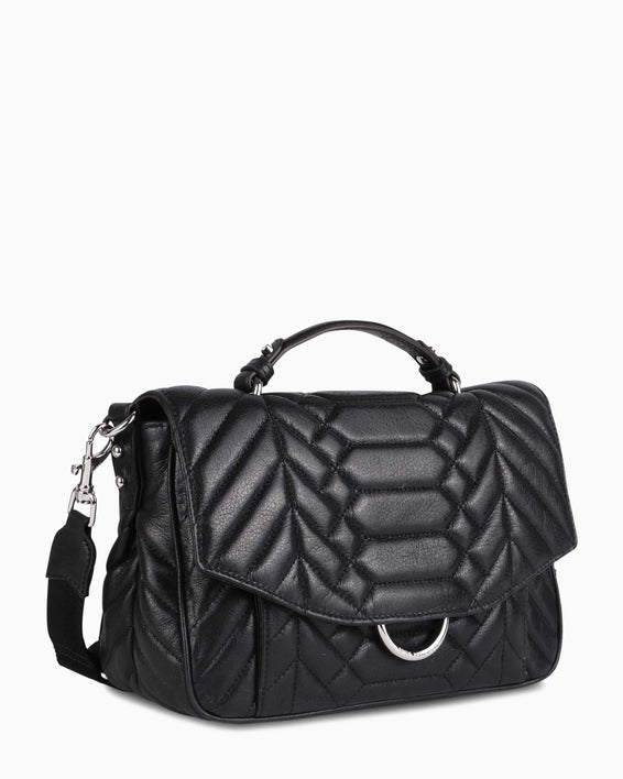 Scene Stealer top handle Crossbody - Black Side angle