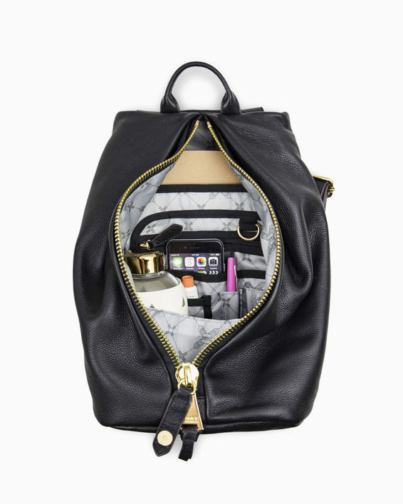 Tamitha Backpack - Black Gold inside