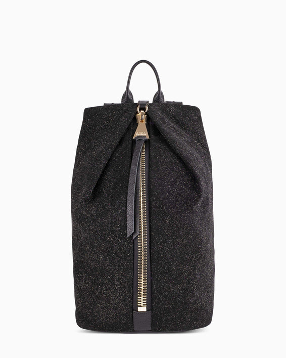 Tamitha Backpck - Glitter Suede Front