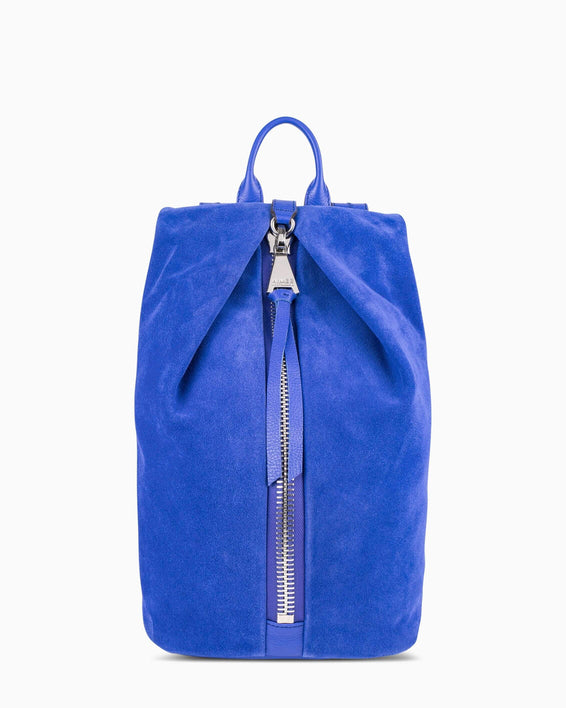 Tamitha Backpck - Lapis Blue Suede Front