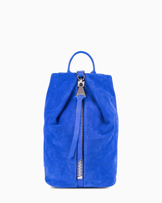 Tamitha Mini Backpck - Lapis Blue Suede Front